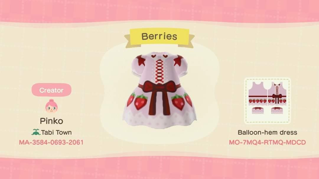 Strawberry Dress - Animal Crossing: New Horizons Custom Design
