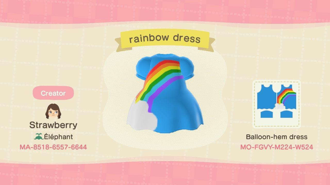 Rainbow dress - Animal Crossing: New Horizons Custom Design