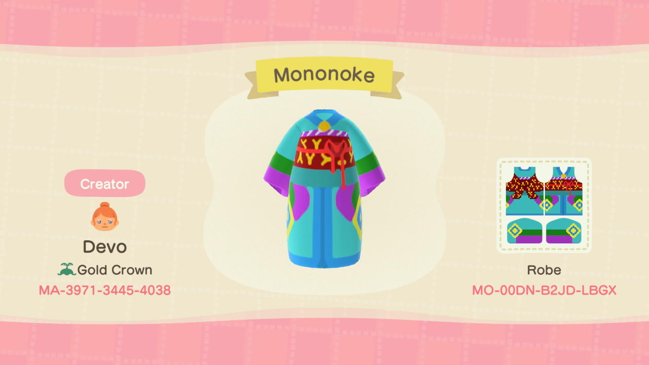 Mononoke - Animal Crossing: New Horizons Custom Design