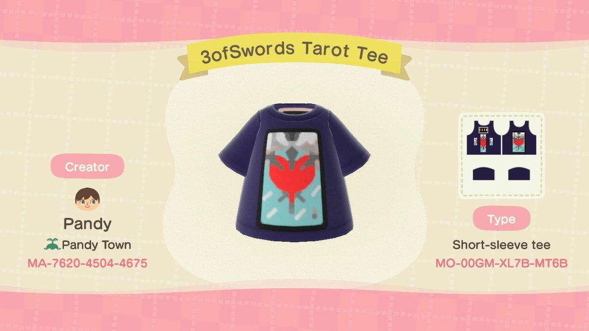 3ofSwords Tarot Tee - Animal Crossing: New Horizons Custom Design