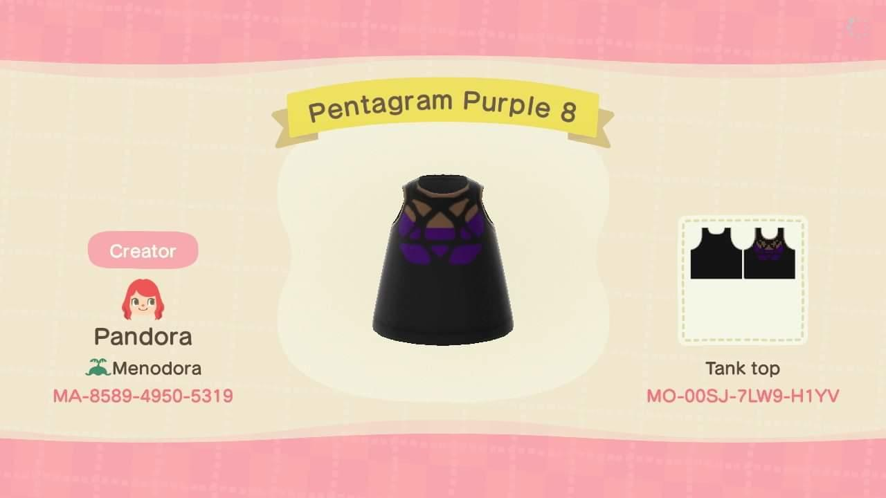 Pentagram Purple 8 - Animal Crossing: New Horizons Custom Design