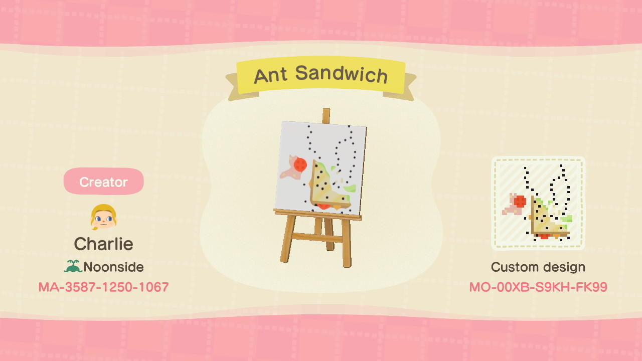 Ant-Covered Sandwich - Animal Crossing: New Horizons Custom Design