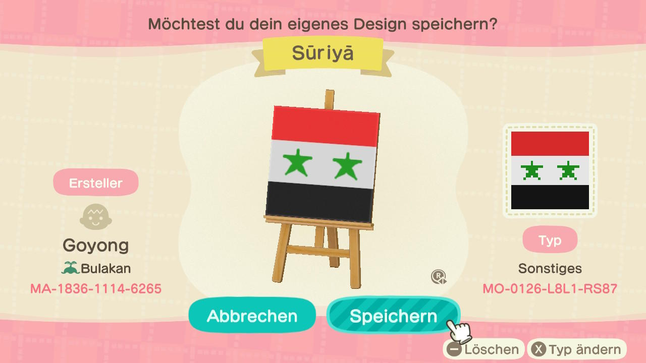 Syria - Animal Crossing: New Horizons Custom Design