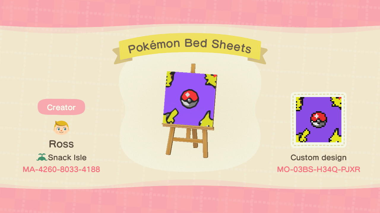 Pokémon Bed Sheets - Animal Crossing: New Horizons Custom Design