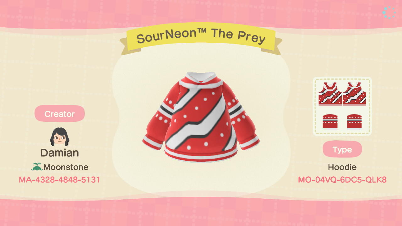 SourNeonTM The Prey - Animal Crossing: New Horizons Custom Design