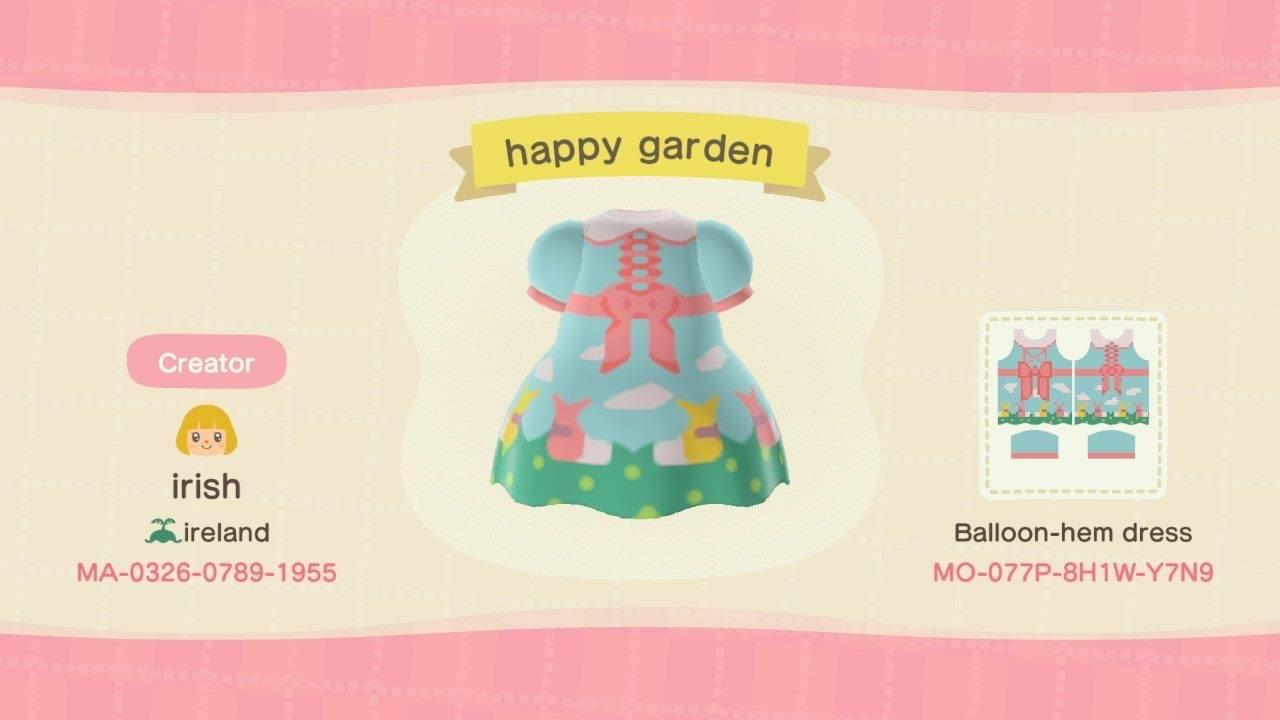 ap happy garden - Animal Crossing: New Horizons Custom Design