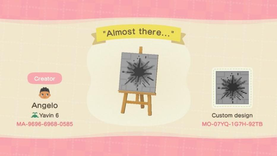 Almost there... - Animal Crossing: New Horizons Custom Design