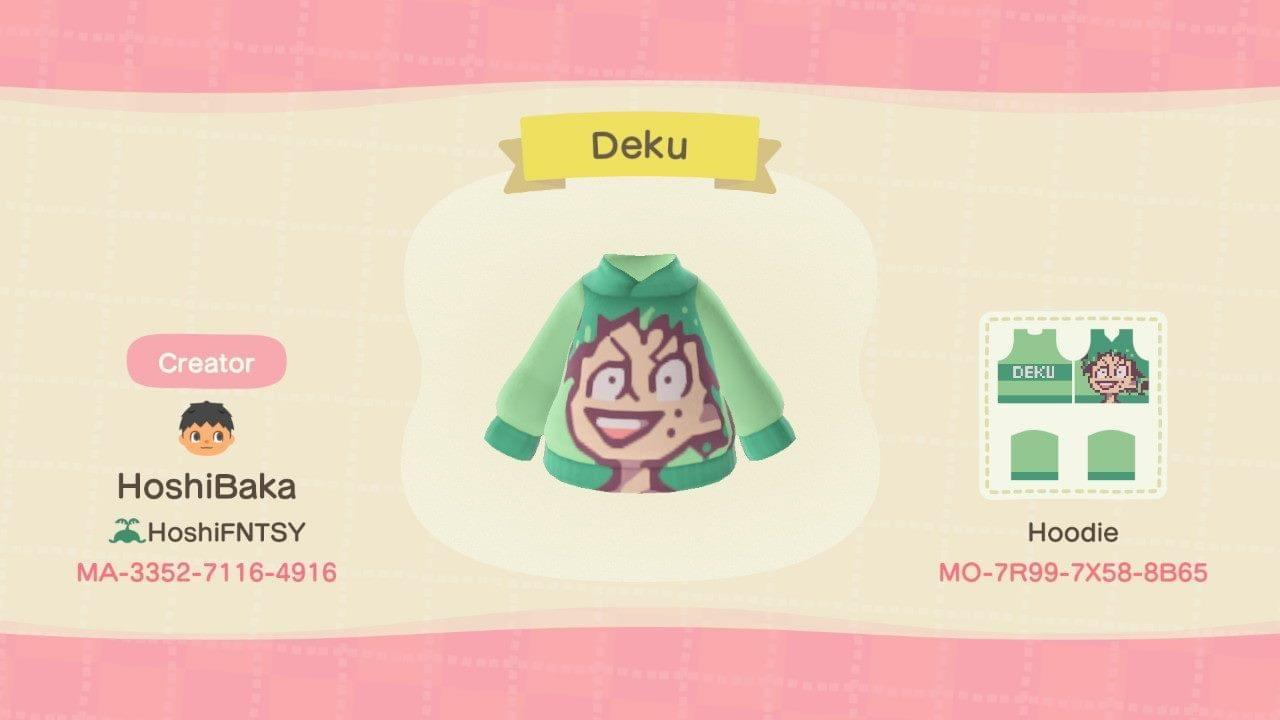 Deku HeadBang Face - Animal Crossing: New Horizons Custom Design