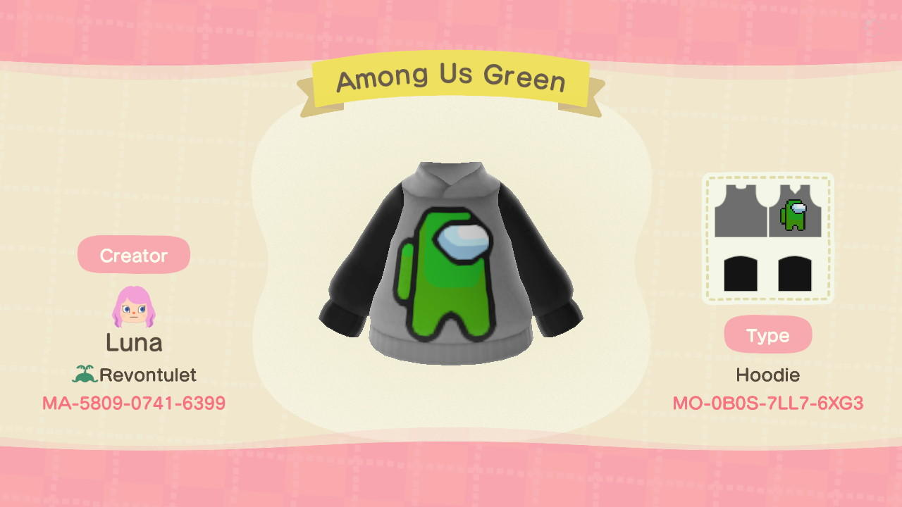 Among Us Green - Animal Crossing: New Horizons Custom Design