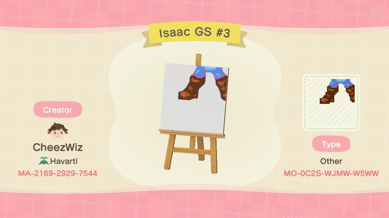 Isaac Golden Sun #3 - Animal Crossing: New Horizons Custom Design