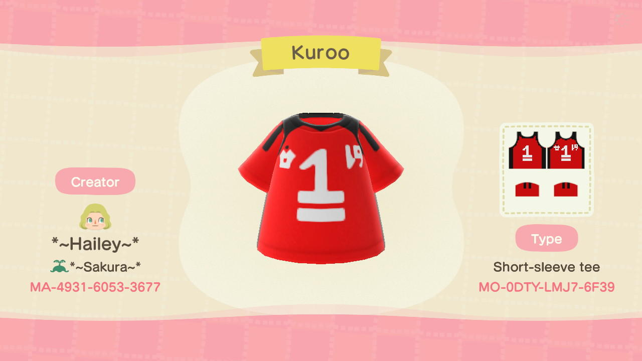 Kuroo - Animal Crossing: New Horizons Custom Design