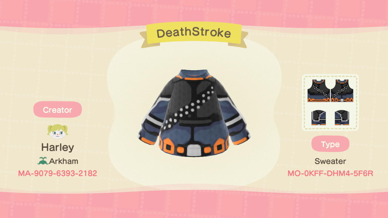 DeathStroke - Animal Crossing: New Horizons Custom Design