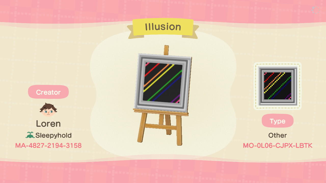 Illusion - Ib - Animal Crossing: New Horizons Custom Design