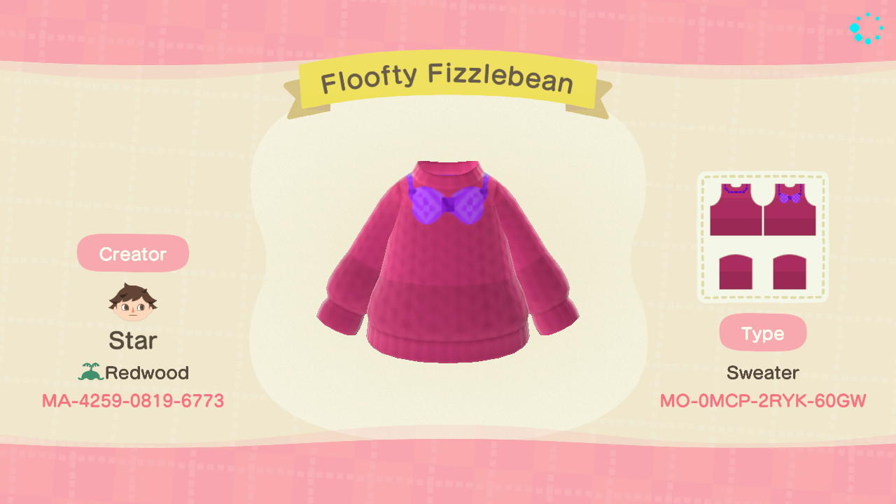 Floofty Fizzlebean  - Animal Crossing: New Horizons Custom Design