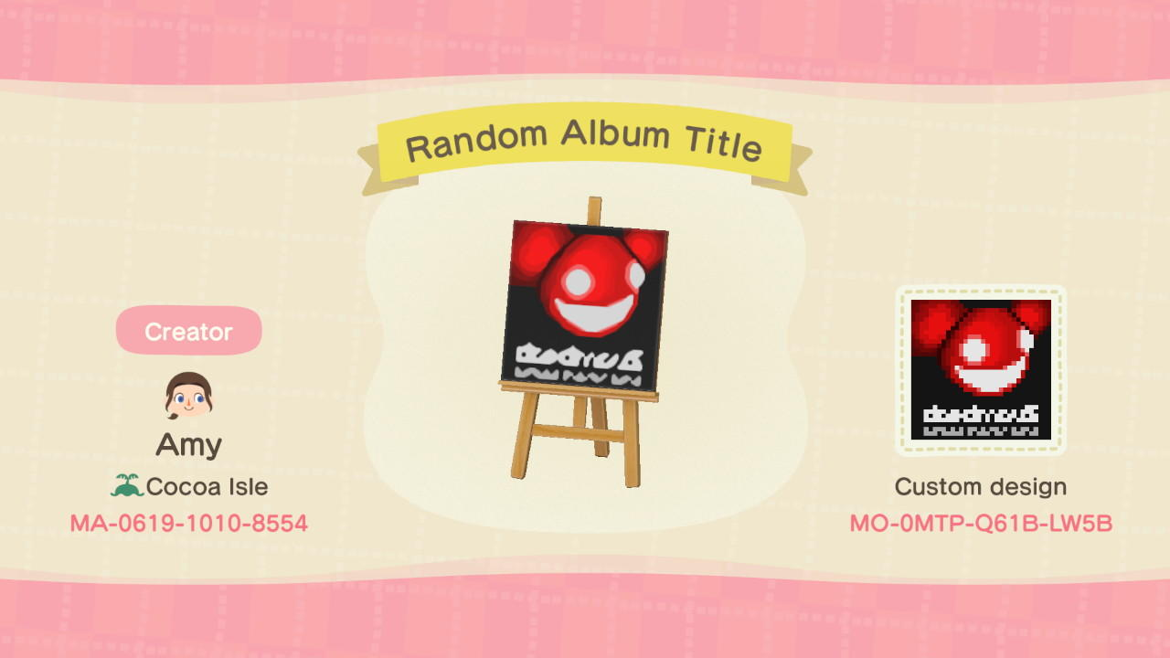 Random Album Title - Animal Crossing: New Horizons Custom Design