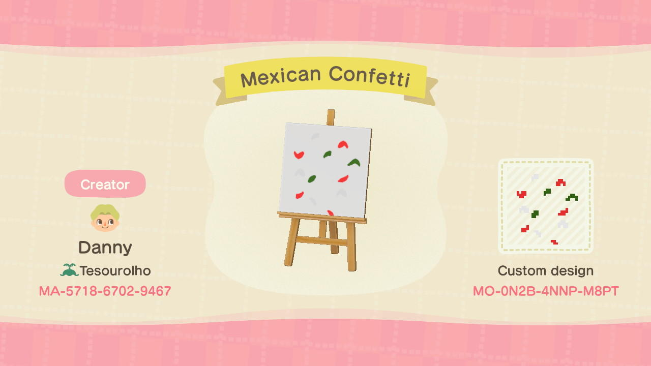 Mexican Confetti - Animal Crossing: New Horizons Custom Design
