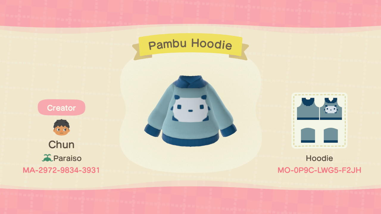 Pambu Hoodie - Animal Crossing: New Horizons Custom Design
