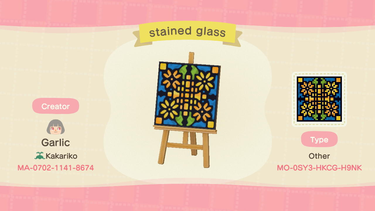 stained glass sun - Animal Crossing: New Horizons Custom Design