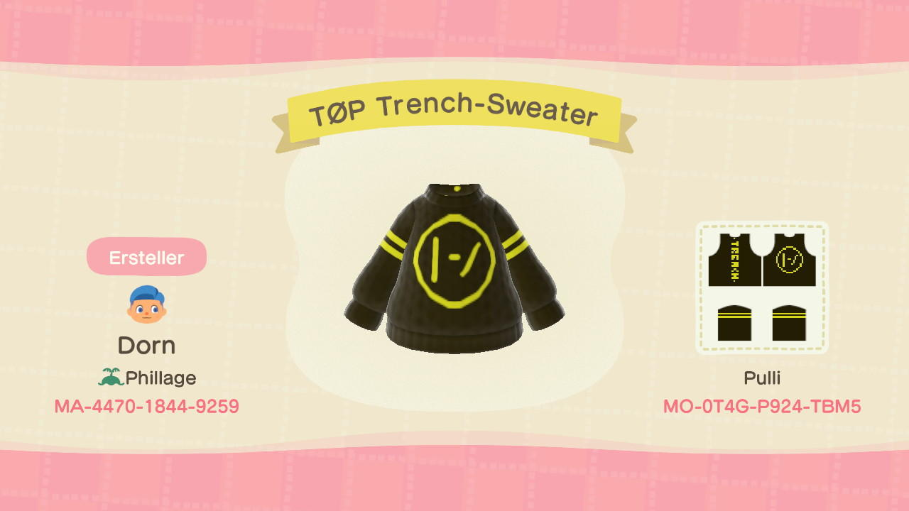 TØP Trench-Sweater - Animal Crossing: New Horizons Custom Design