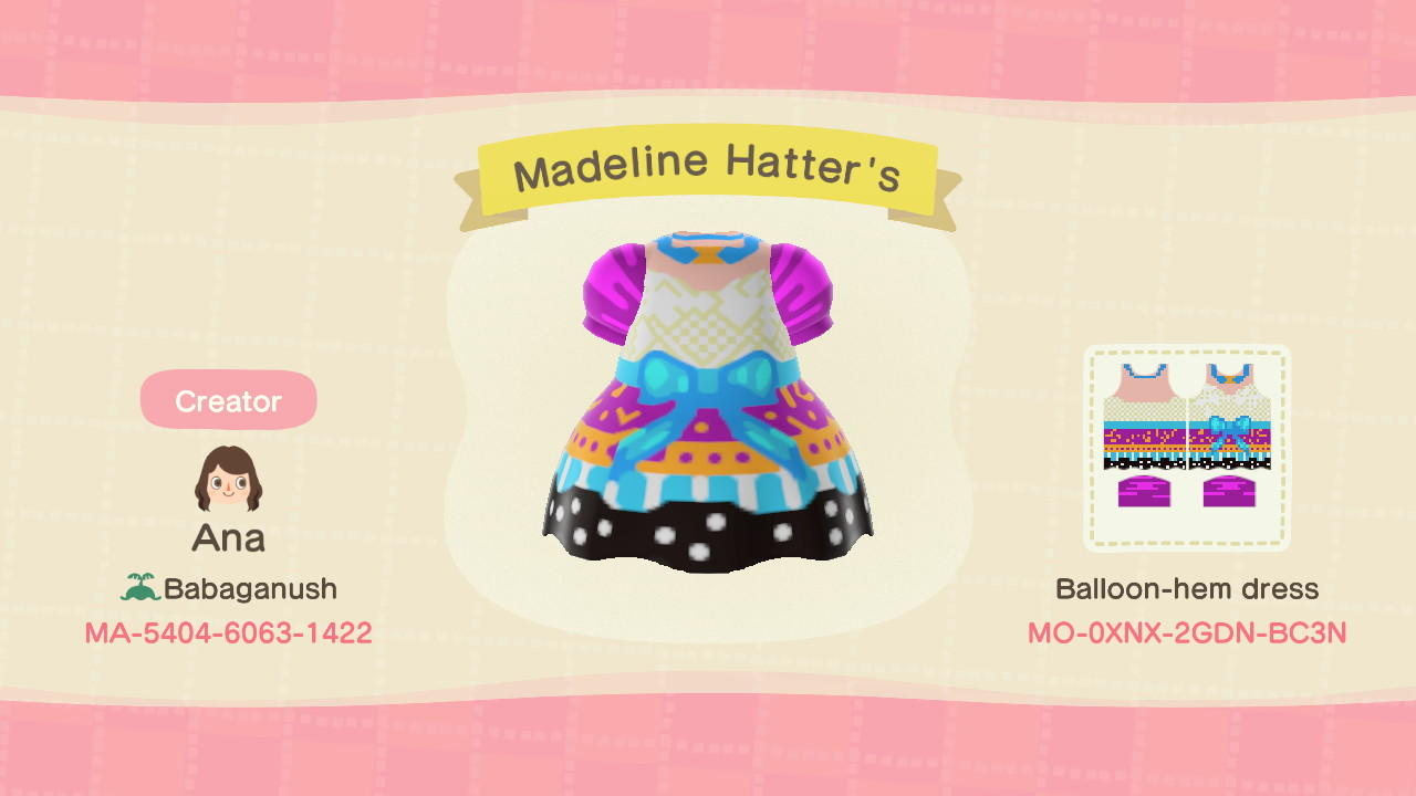 Madeline Hatter's - Animal Crossing: New Horizons Custom Design