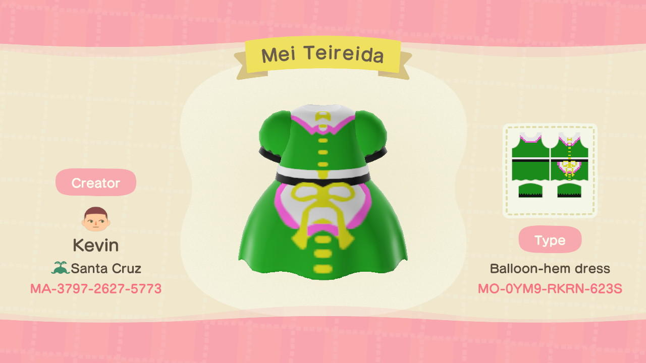 Touhou Mai Teireida - Animal Crossing: New Horizons Custom Design