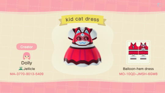 kid cat dress - Animal Crossing: New Horizons Custom Design
