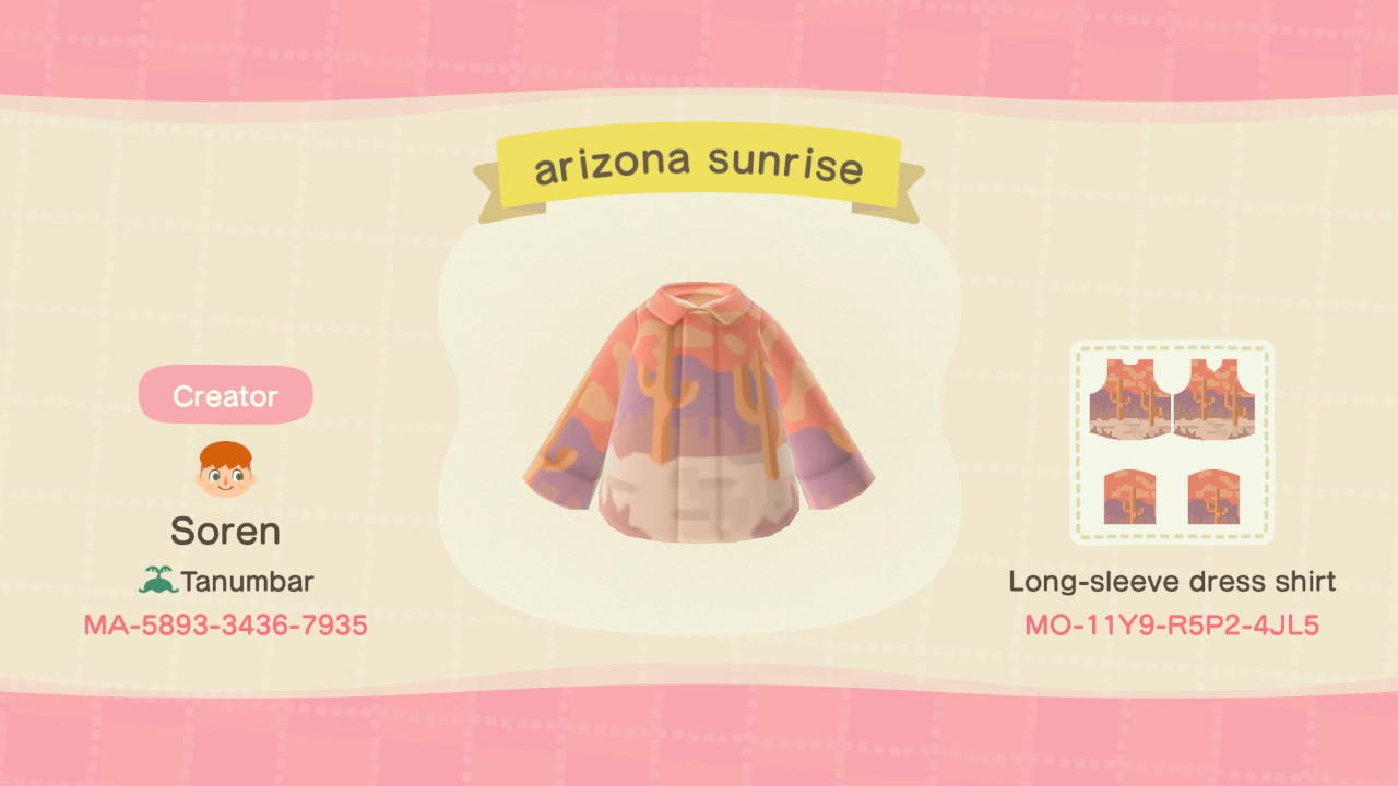 Arizona sunset - Animal Crossing: New Horizons Custom Design