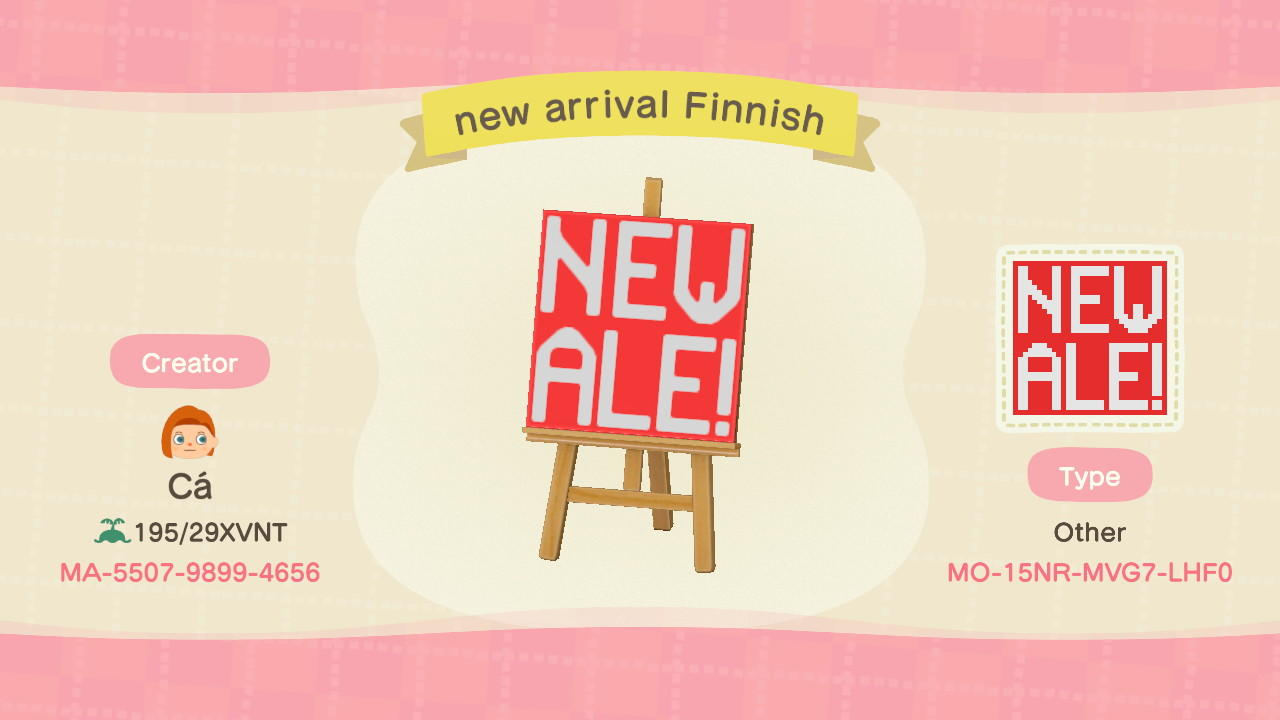 new arrival Finnish - Animal Crossing: New Horizons Custom Design