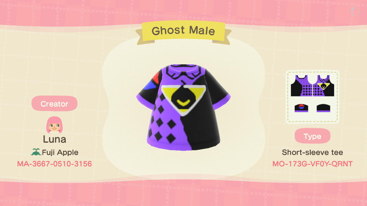 Ghost Male - Animal Crossing: New Horizons Custom Design