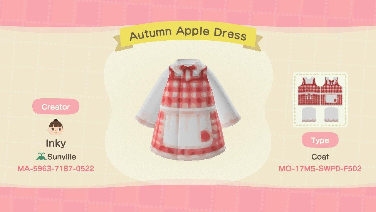 Autumn Apple Dress - Animal Crossing: New Horizons Custom Design