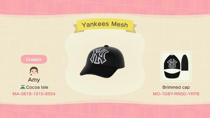Yankees Mesh - Animal Crossing: New Horizons Custom Design