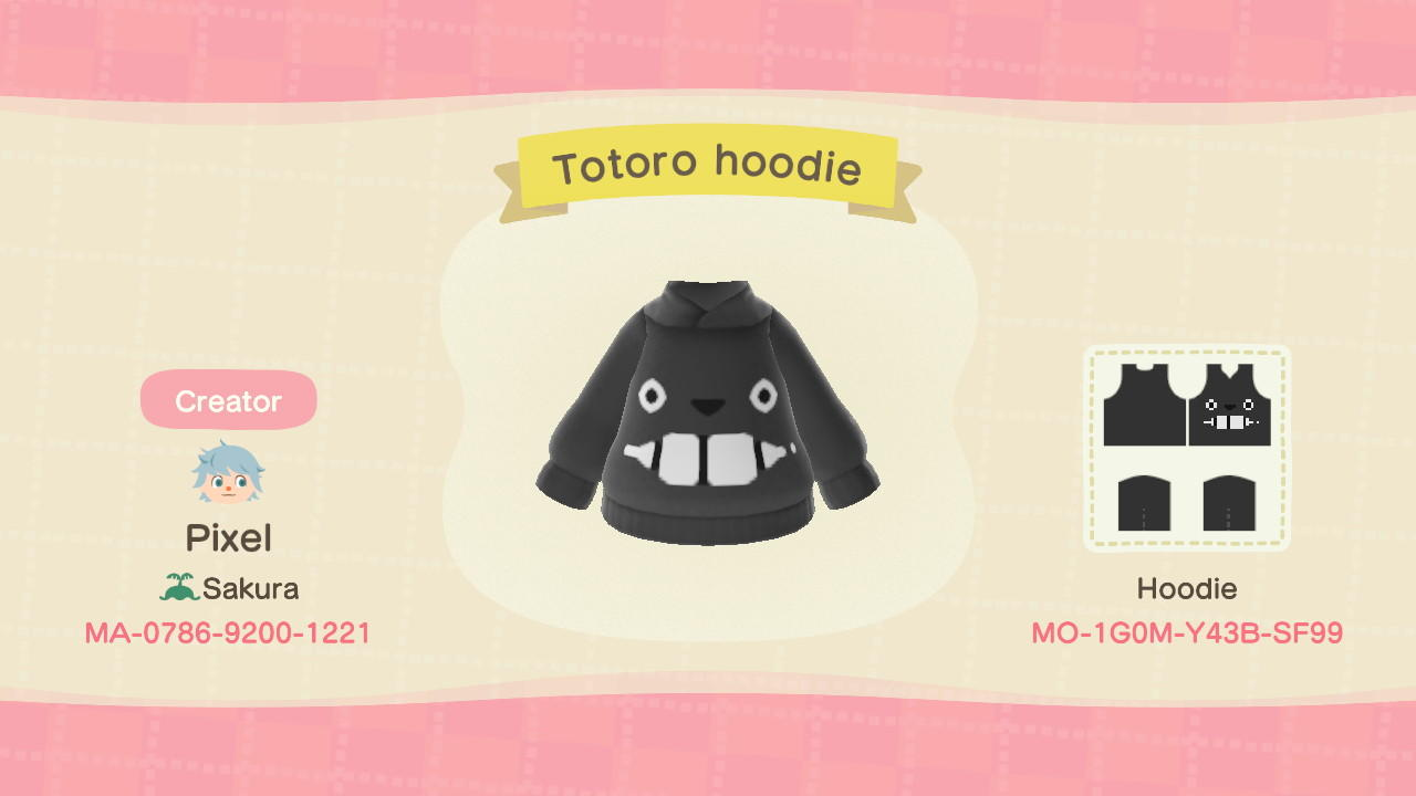 Totoro hoodie - Animal Crossing: New Horizons Custom Design
