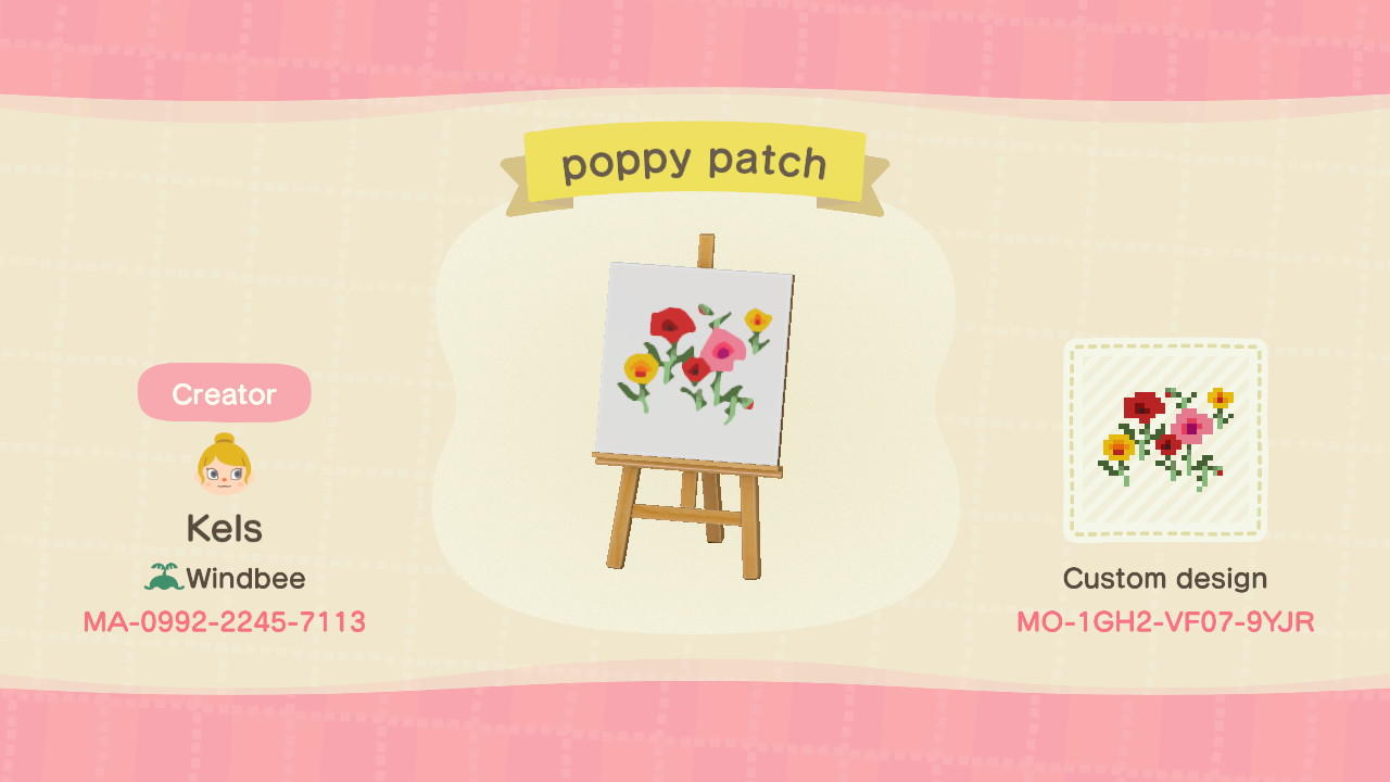 poppy patch - Animal Crossing: New Horizons Custom Design