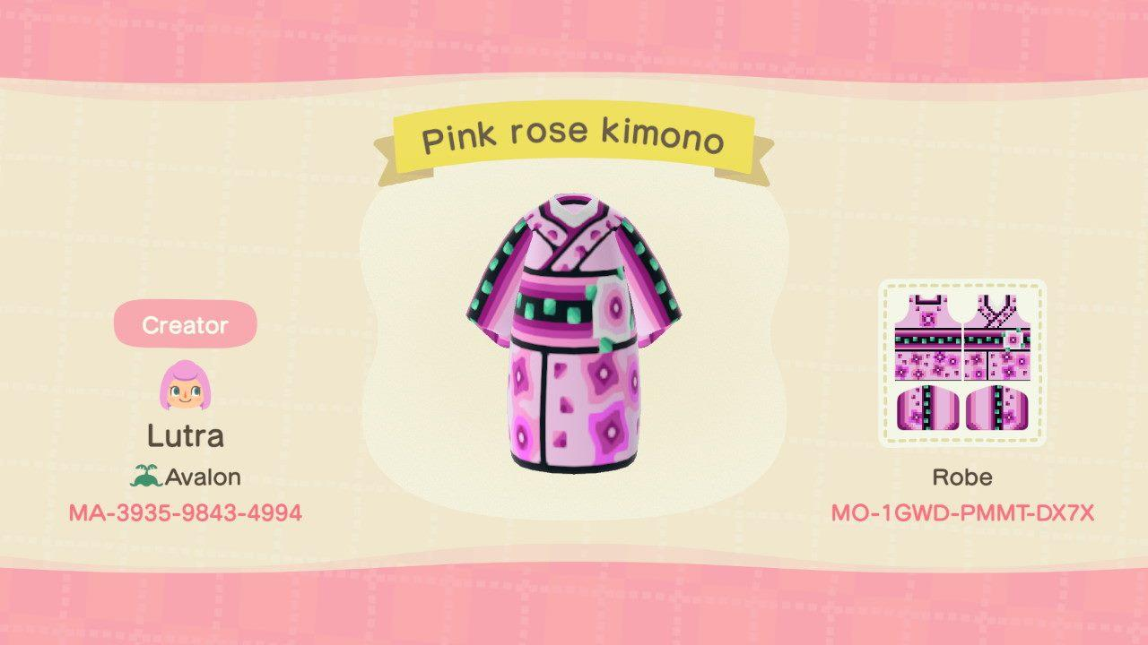 pink rose kimono - Animal Crossing: New Horizons Custom Design