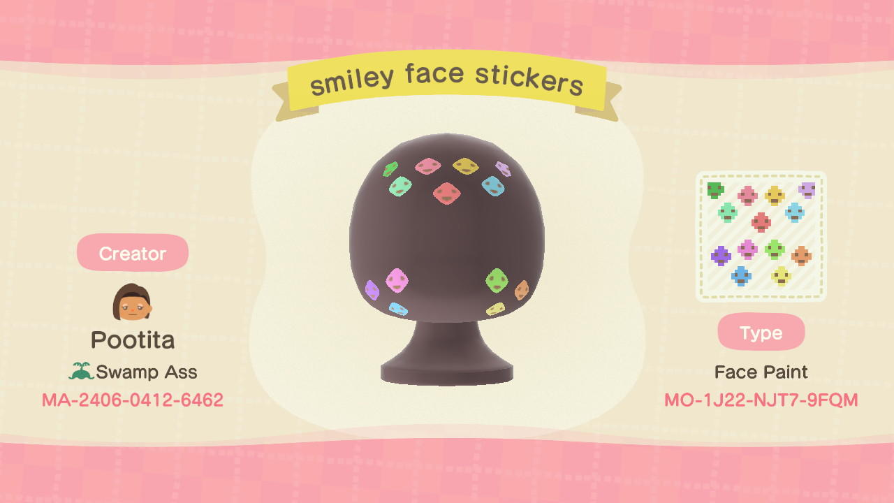 smiley face stickers - Animal Crossing: New Horizons Custom Design