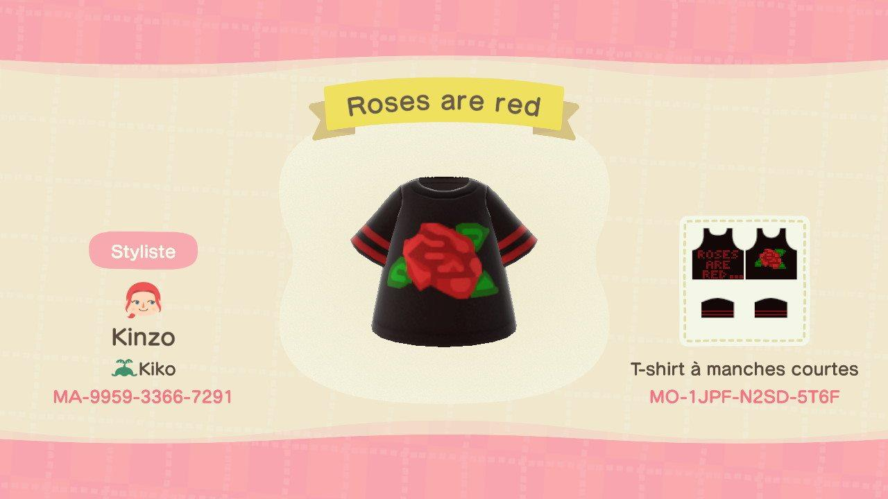 Roses are red - Animal Crossing: New Horizons Custom Design