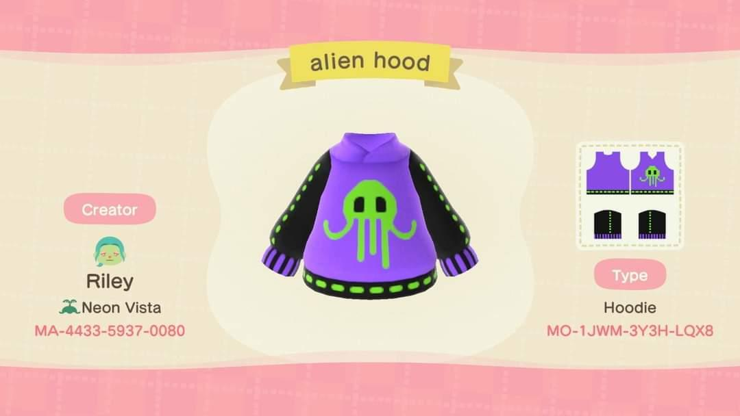 Alien Hoodie - Animal Crossing: New Horizons Custom Design