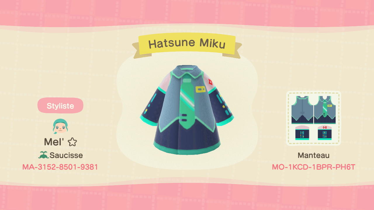 Hatsune Miku - Animal Crossing: New Horizons Custom Design