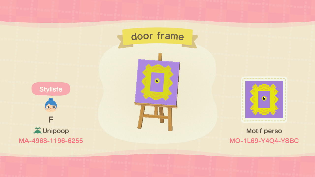 friends door frame - Animal Crossing: New Horizons Custom Design