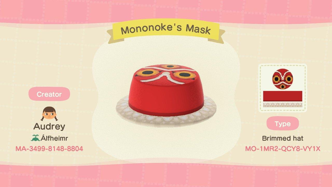 Mononoke's Mask - Animal Crossing: New Horizons Custom Design