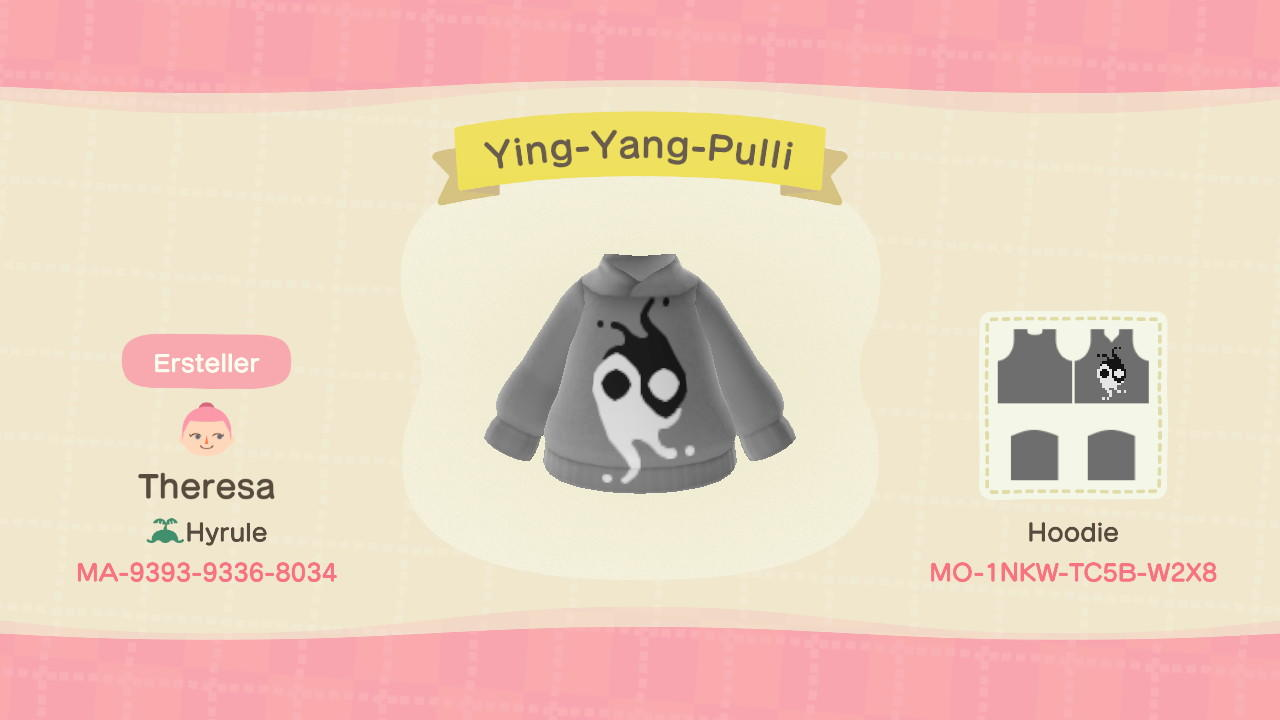 Ying-Yang-Pulli - Animal Crossing: New Horizons Custom Design