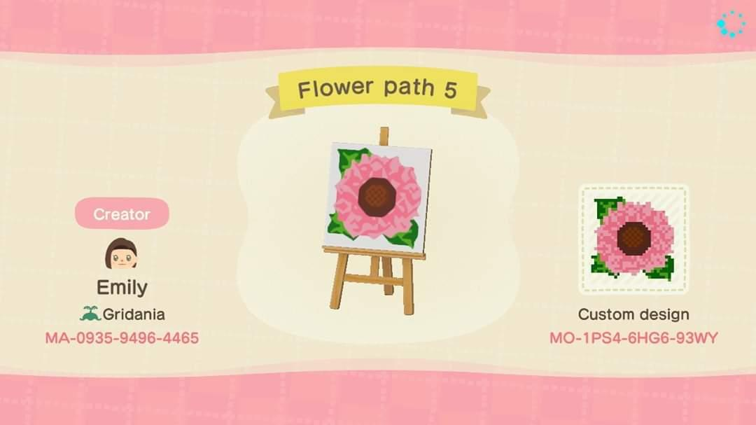 Flower Path 5 - Animal Crossing: New Horizons Custom Design