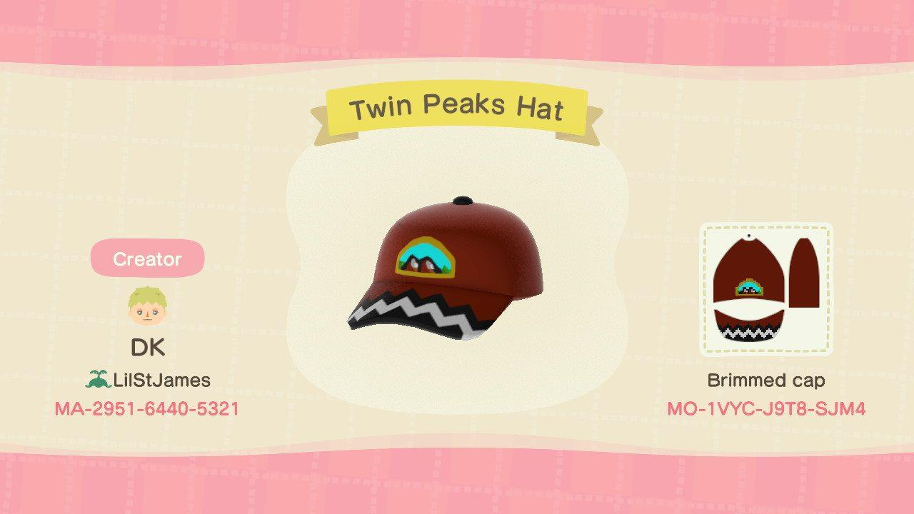 Twin Peaks Hat - Animal Crossing: New Horizons Custom Design