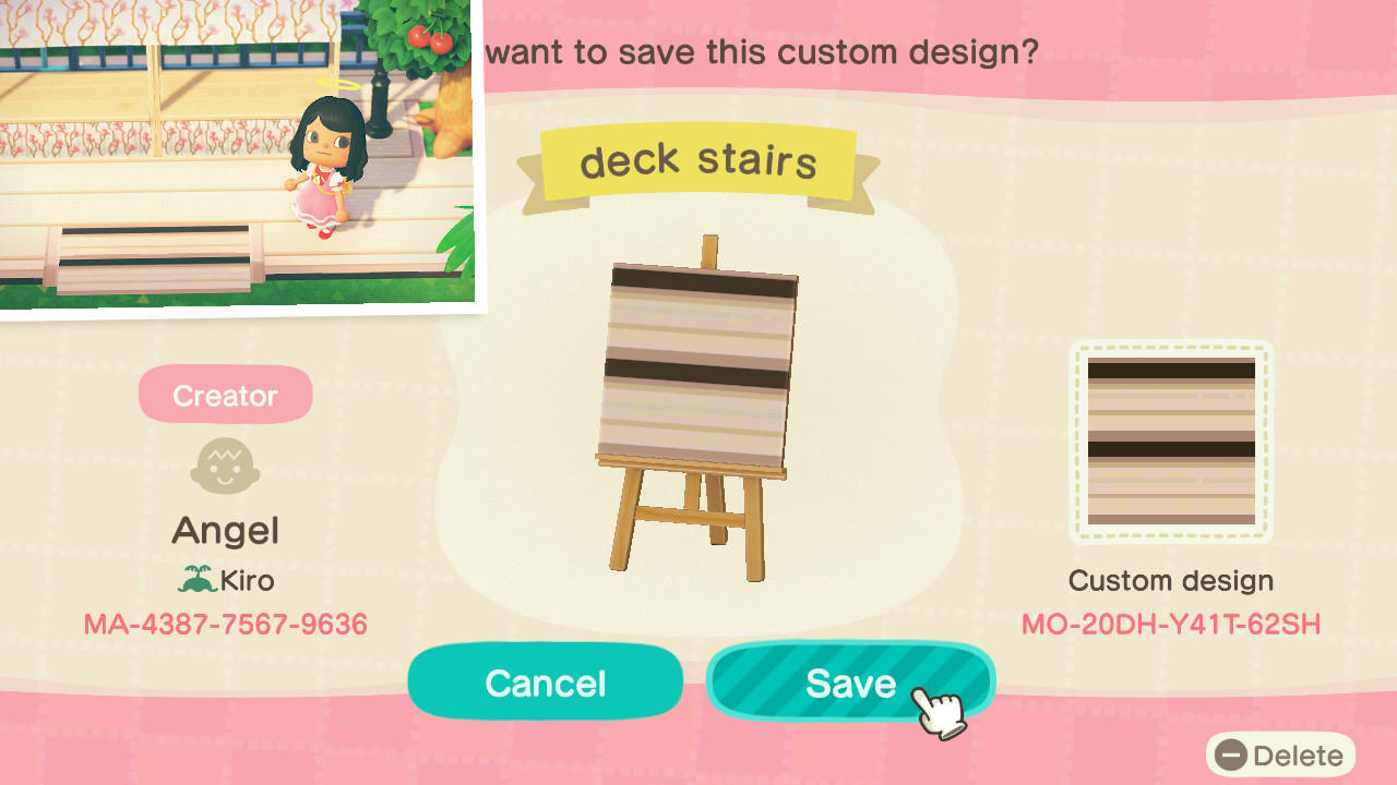 Animal Crossing White Stairs