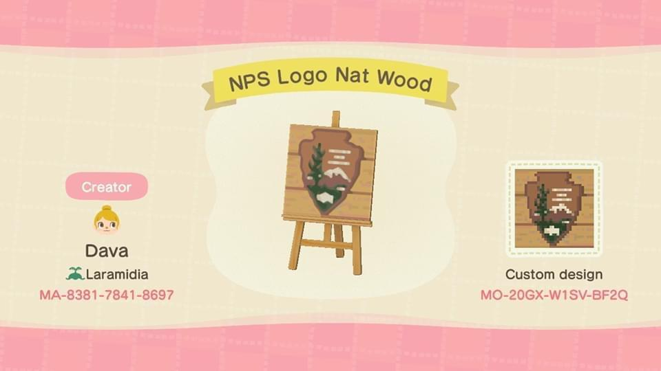 NPS Logo Nat Wood - Animal Crossing: New Horizons Custom Design
