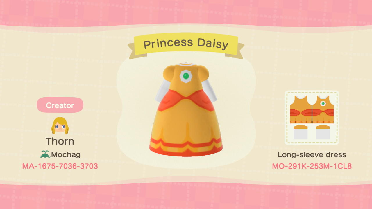 Princess Daisy - Animal Crossing: New Horizons Custom Design