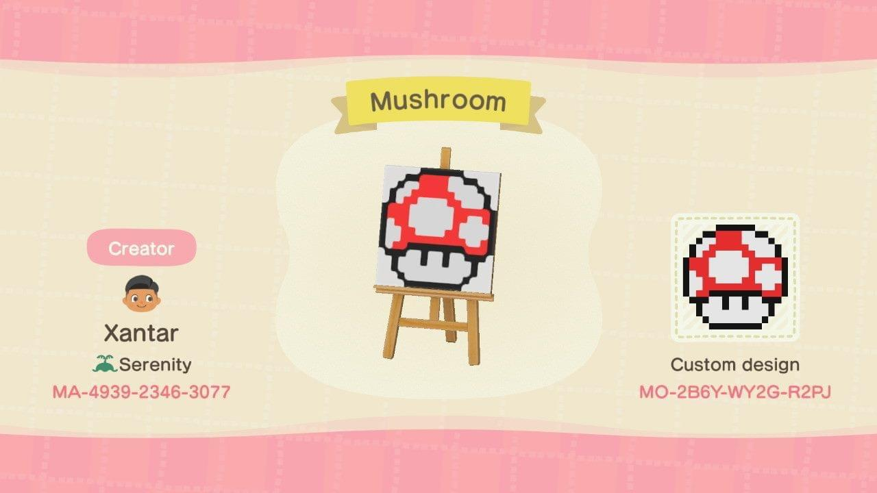 Power Mushroom - Animal Crossing: New Horizons Custom Design