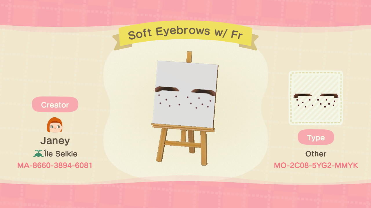 EyebrowsFr: Skin 8 - Animal Crossing: New Horizons Custom Design