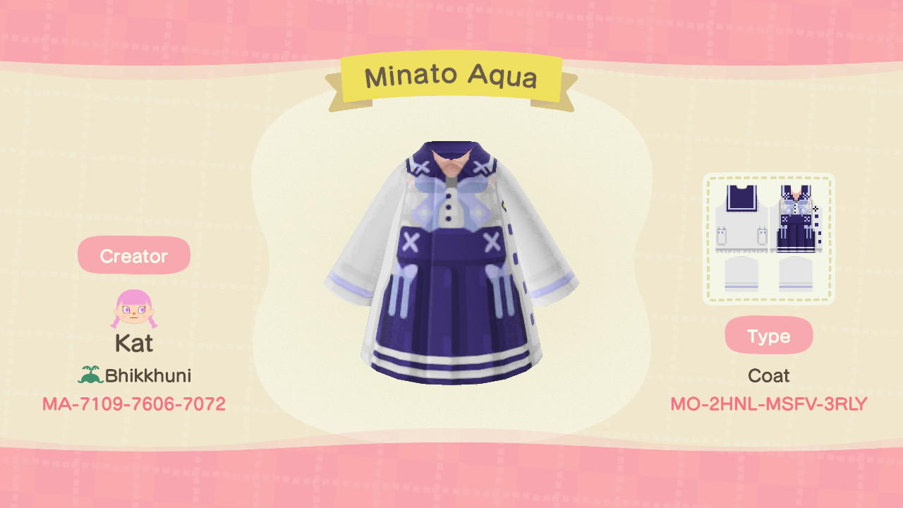 Minato Aqua - Animal Crossing: New Horizons Custom Design
