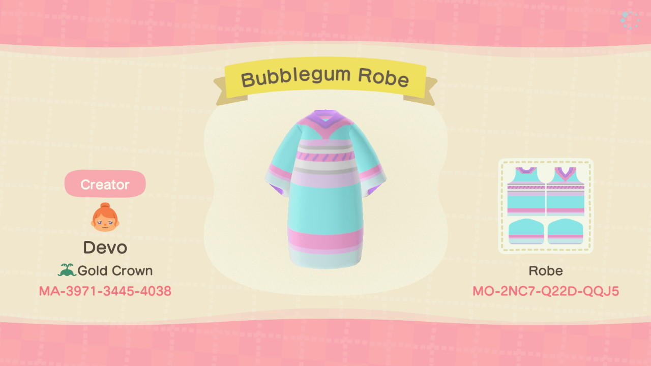 Bubblegum Robe - Animal Crossing: New Horizons Custom Design